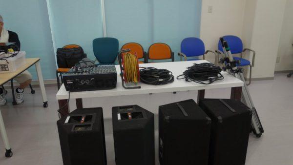 8月19日 音響・照明コースの授業風景