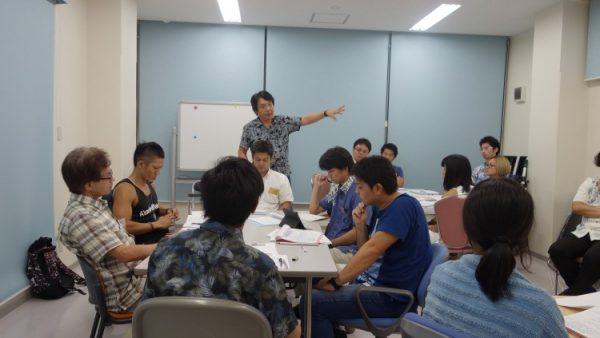 9月14日(水)プロデューサーコースの講義風景